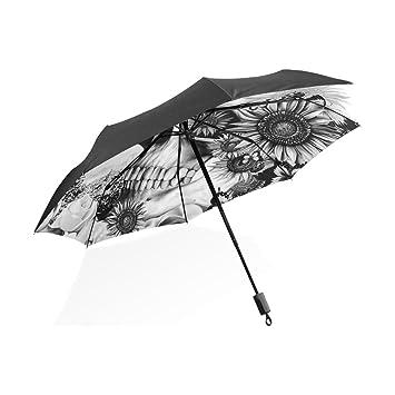 LEISISI portátil Paraguas Compacto Plegable Resistente al ...