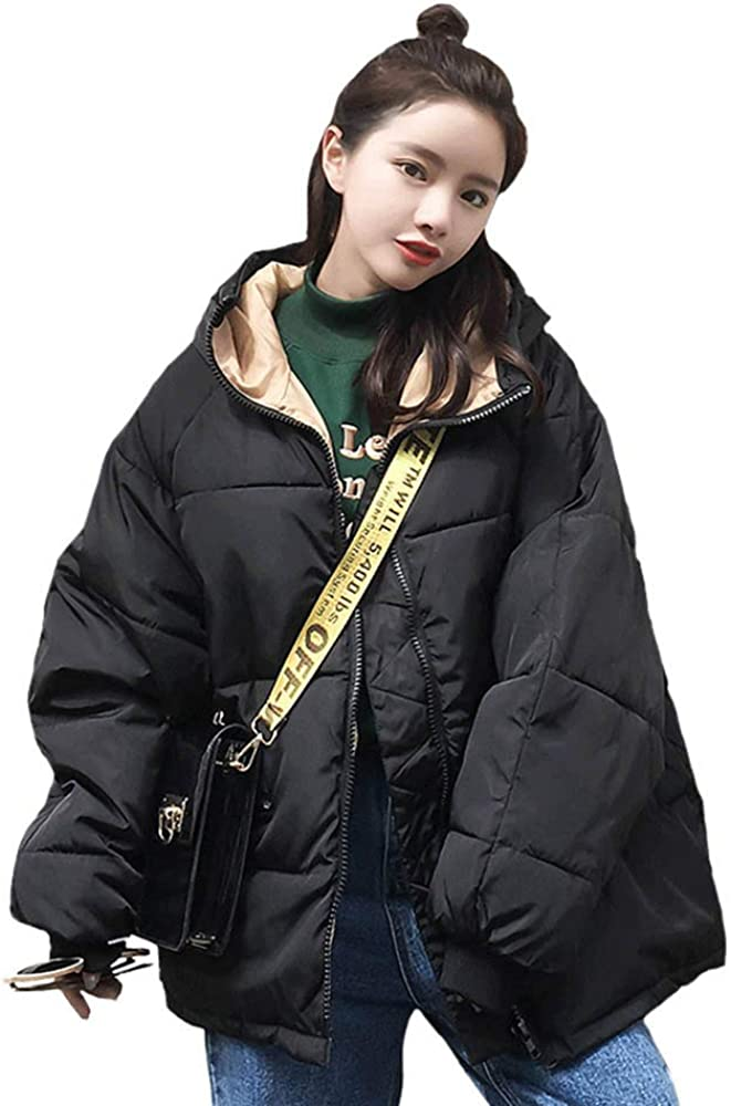 Colmkley Womens Casual Down Jacket Hooded Plus Szie Winter Warm Coat Outerwear