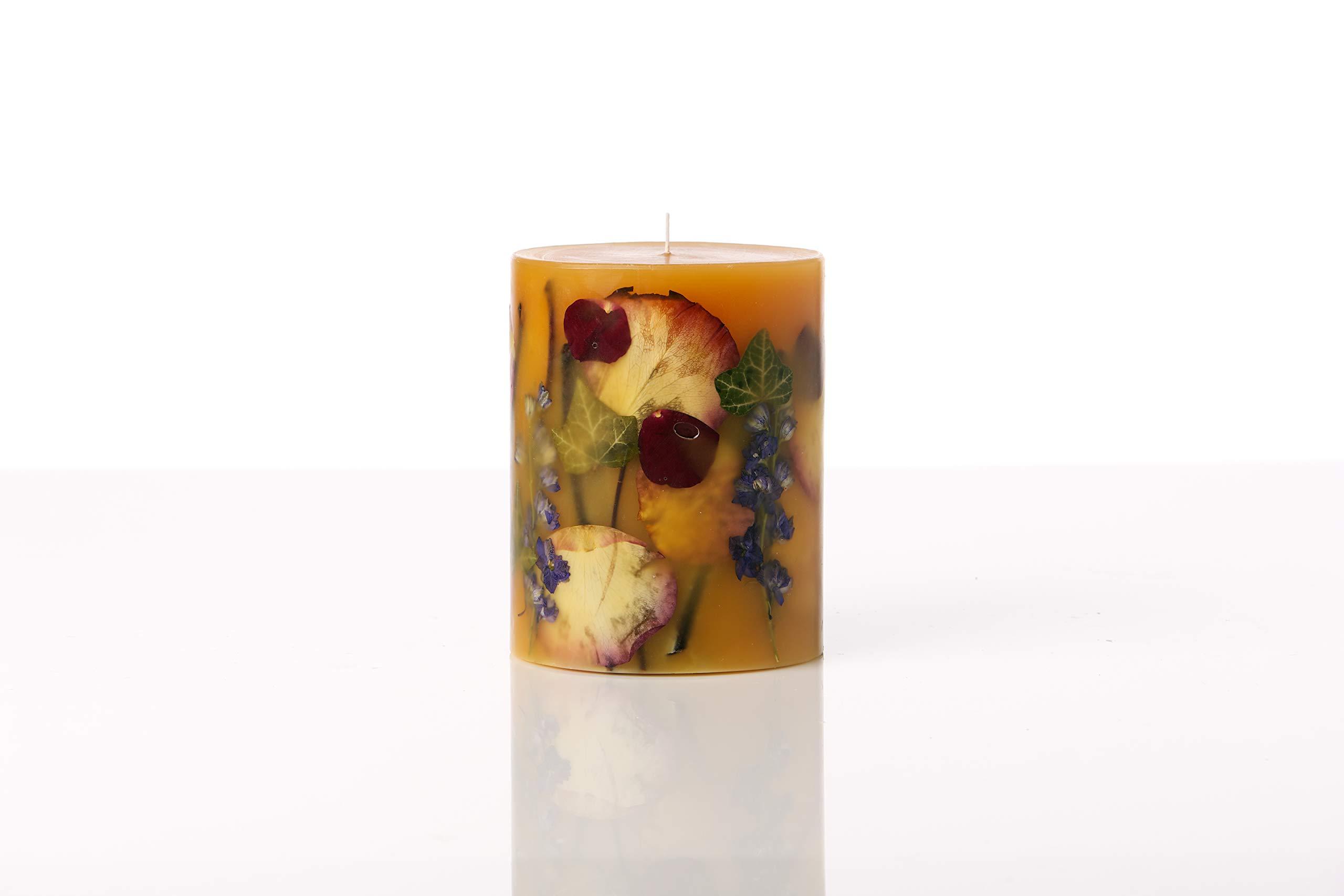 Rosy Rings Medium Round Botanical Candle - Wild Plum & Cannabis