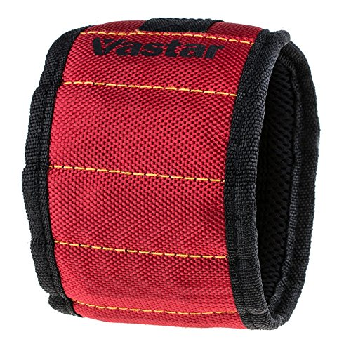 Magnetic Wristband for Holding Screws, Nails, Bo