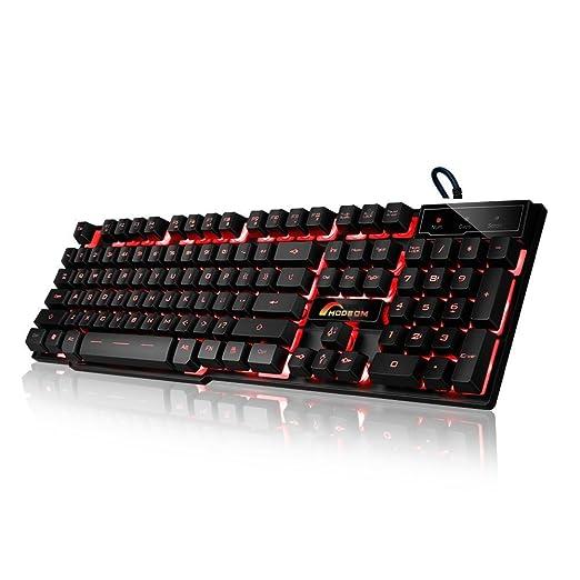 42 opinioni per Moobom DB-A8 meccanica tatto Gaming Keyboard, 3 colori retroilluminato a LED via