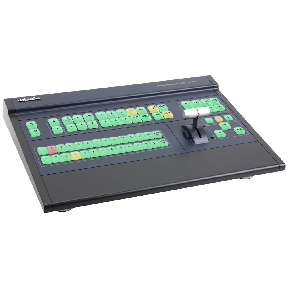 DATAVIDEO New Datavideo SE2800-12, Multi-Definition Video Switcher, Total 12 Inputs, Combinations of SD/HD-SDI, HDMI, and CV Sources, 3 BNC output connectors SDI Outputs. 2 HDMI out for multiscreen