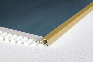 Rand Fliesenleiste Alu 2000x13x10mm 1 St/ück gold Effector A58 rostfrei