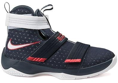 newest ae2c3 259d7 Nike Lebron Soldier 10 (GS) Chaussures de Basket-Ball, Garçons, Noir