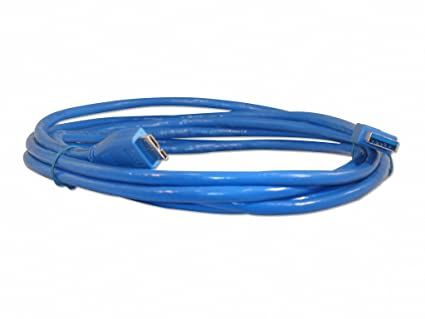 10 Foot Blue High quality Blue SuperSpeed USB 3.0 A Male to B Male