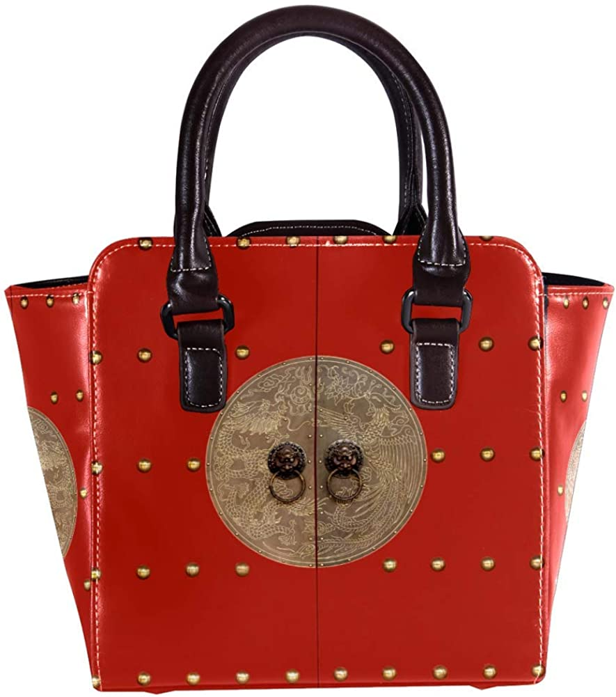 Women handbag Soft PU Leather Fashion Rivet bag Handbag with Shoulder Strap Crossbody Bag Ancient Door