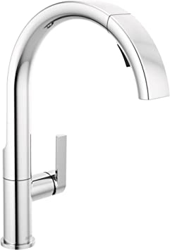 Delta Faucet Keele Chrome Kitchen Faucet With Pull Down Sprayer Kitchen Sink Faucet Faucets For Kitchen Sinks Single Handle Magnetic Docking Spray Head Chrome 19824lf Amazon Com