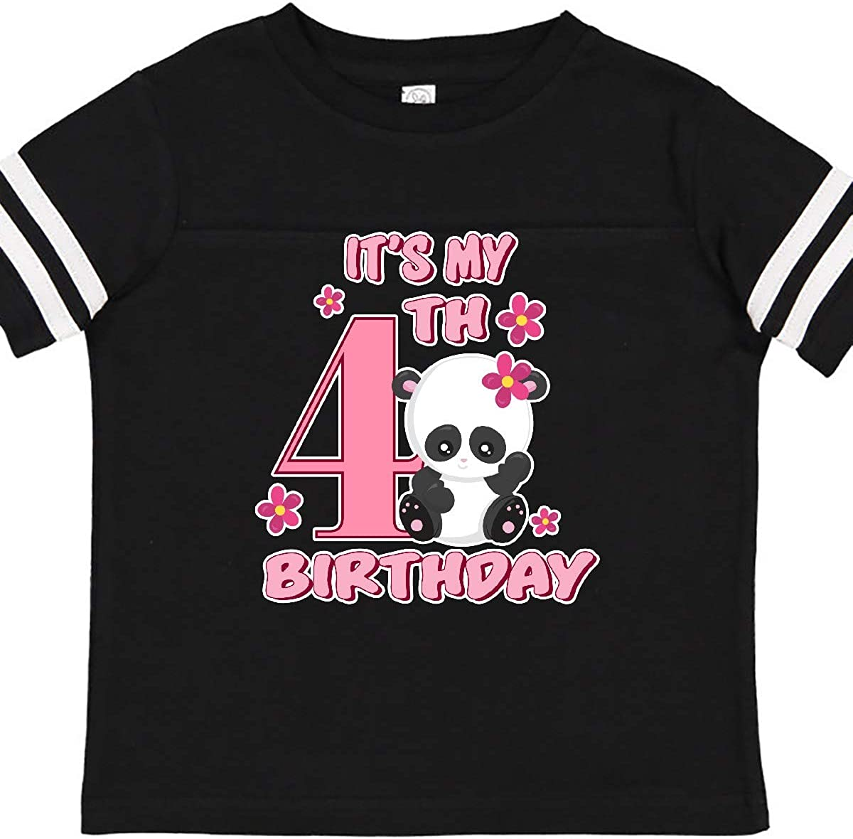 inktastic Its My Fourth Birthday with Panda Bear Toddler T-Shirt