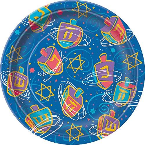 Festive Hanukkah Dessert Plates, 8ct ()