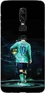 Stylizedd OnePlus 6 Slim Snap Basic Case Cover Matte Finish - Golden Messi