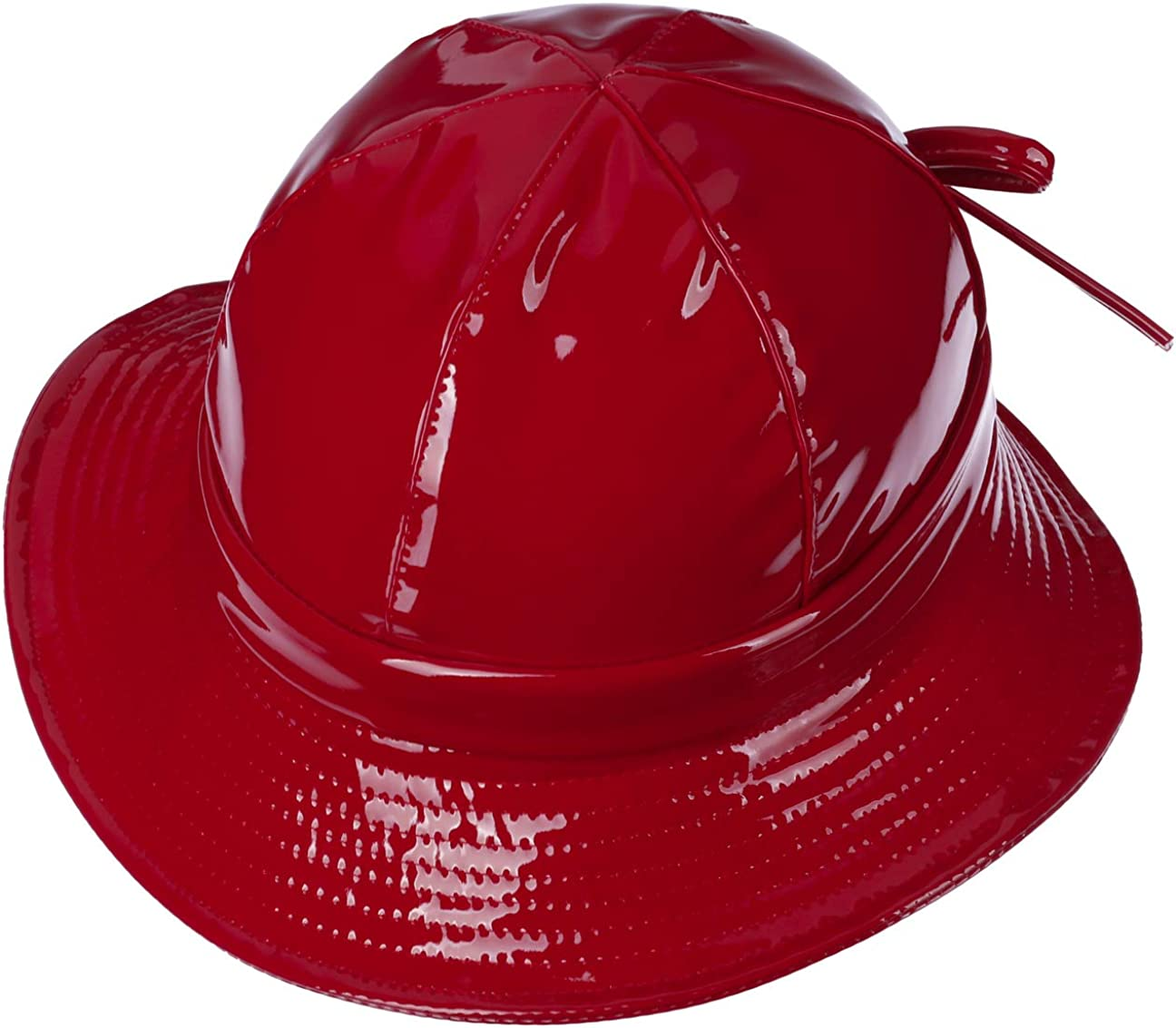 Laque Resistant McBURN Chapeau de Pluie Verni Femme e aux intemperies avec Doublure Printemps-ete Taille Unique Rouge