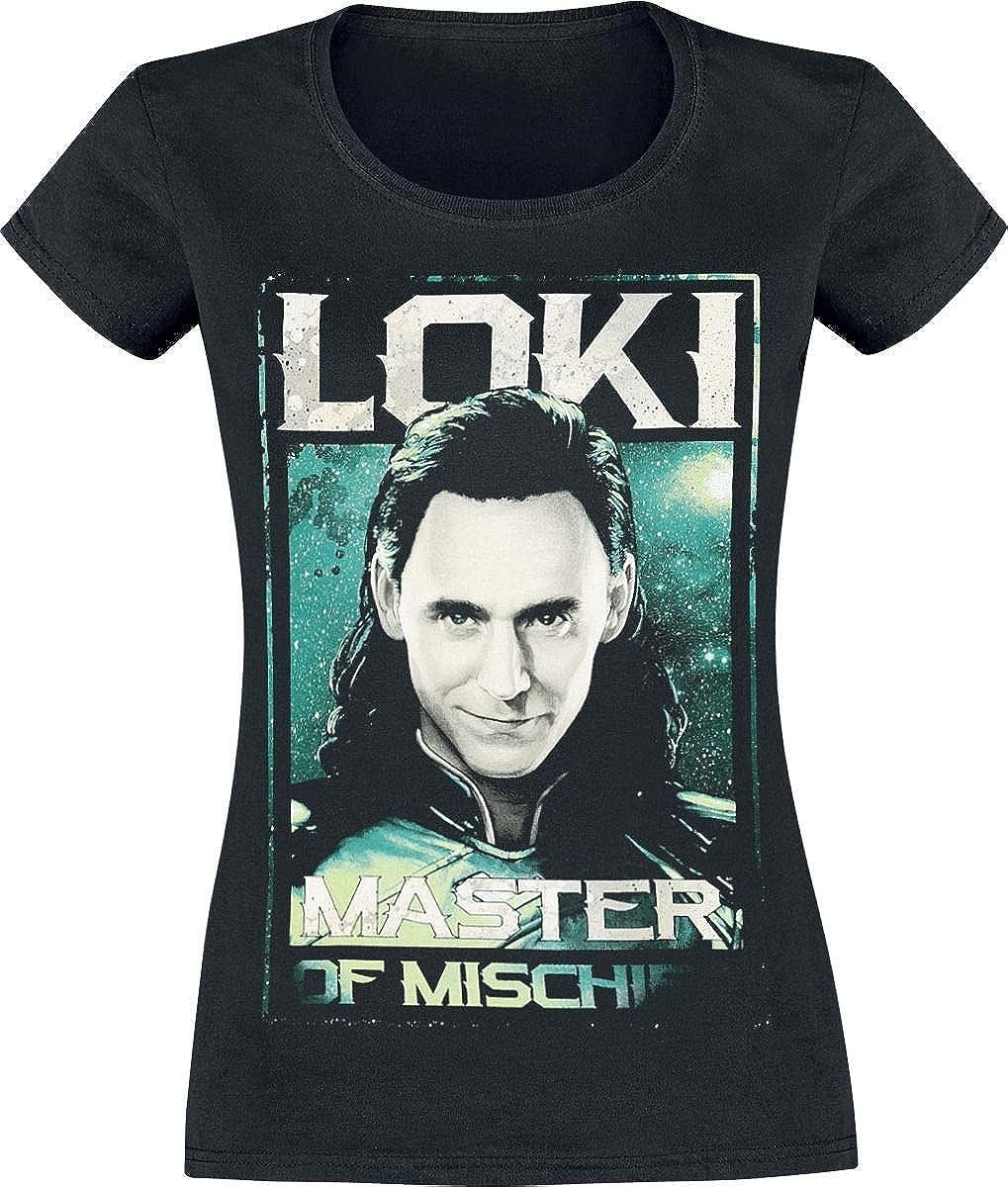 Thor Ragnarok - Loki - Master of Mischief T-Shirt Manches Courtes Noir