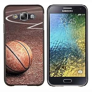 TECHCASE---Cubierta de la caja de protección para la piel dura ** Samsung Galaxy E5 E500 ** --Textura del baloncesto de la vendimia