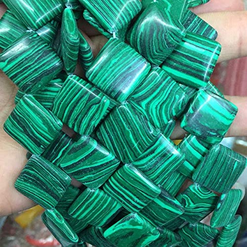 Calvas Mixed-Shape Green Malachite Veins Synthetic Turquoises Stone Rectangle Abacus Barrle Cube Coin Oval Loose Beads Jewelry 15