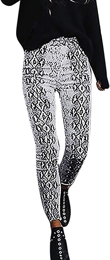 Womens grey skinny jeans jeggings animal snake print size 10 new with stretch