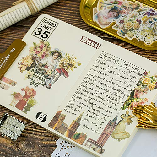 eroute66 Vintage Light Clock Furniture Plant DIY Scrapbooking Album Diary Stickers 2Pcs 1# by eroute66 (Image #4)
