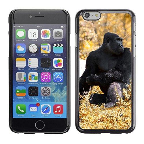 "Premio Sottile Slim Cassa Custodia Case Cover Shell // V00002980 noir gorille automne // Apple iPhone 6 6S 6G 4.7"""