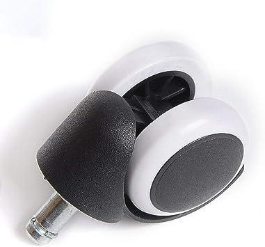 Rotelle per mobili rinforzate silenziose Rotelle per sedie universali in Poliuretano da 2 Pollici con Ruote per Sedia a rotelle Bianco ITjasnyfall