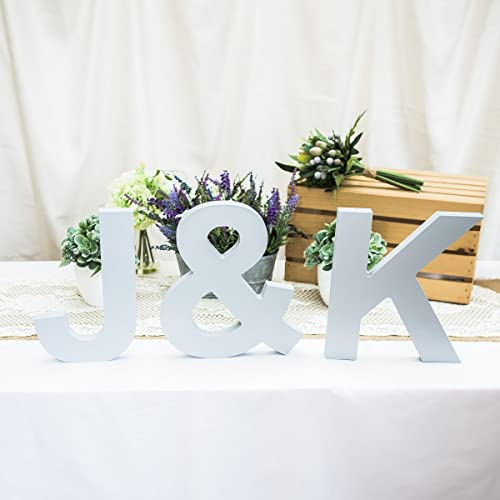 Amazon wedding initial signs for table decor large 12 tall wedding initial signs for table decor large 12quot tall standing wooden letters freestanding 3 piece junglespirit Choice Image