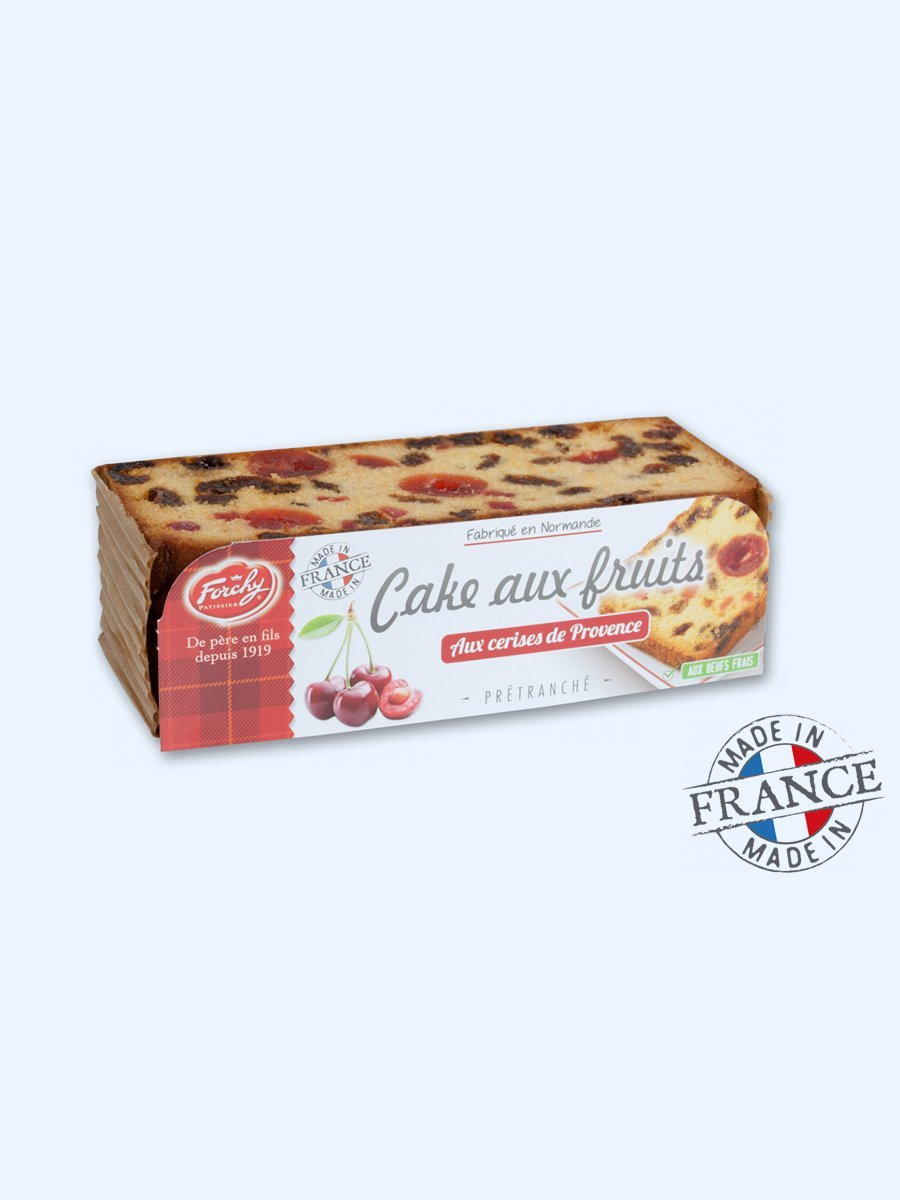 Forchy – Fruit cake – candied cherries from Provence 275 g. 4 Slices (Pack of 2)