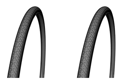 "2x Cubierta Rueda Neumatico de Bicicleta Urbana Top Slick MTB 26 "" x 1,"