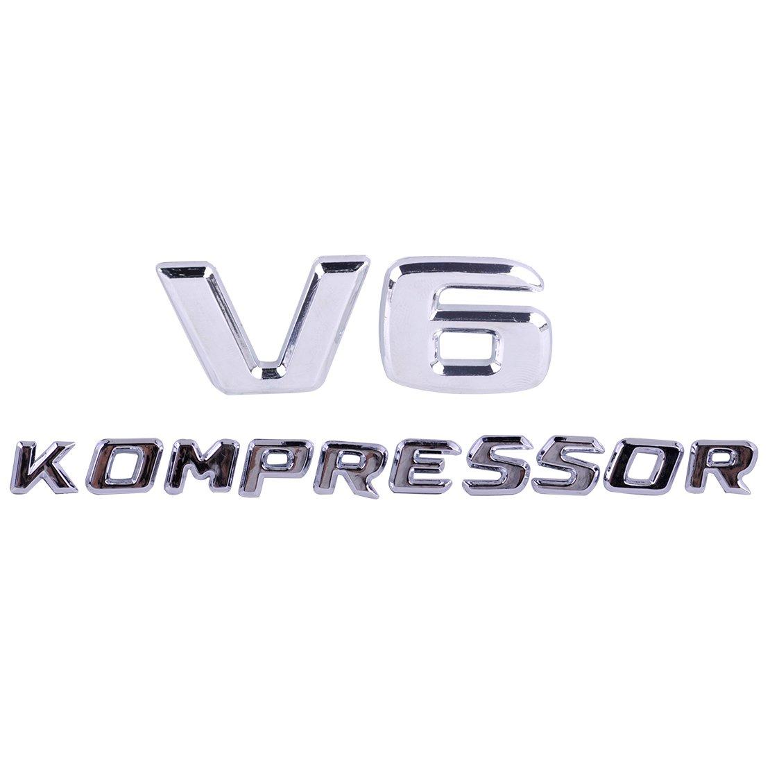 Daphot-Store - Car Kompressor V6/V8/V12 Letter Sticker Emblem Badge Self Adhesive Decoration Decal Luxury Customized
