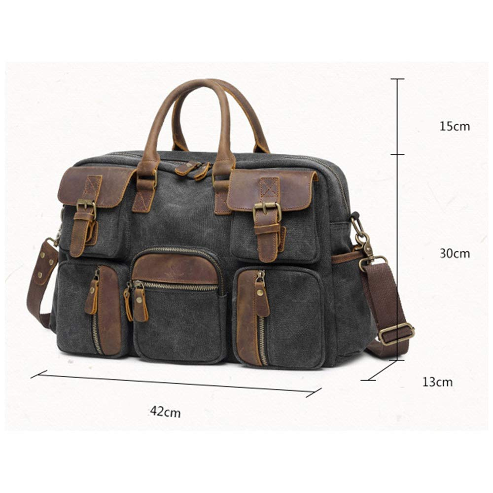 Bxfdc Mens Briefcase Travel Bag Europe and America Cross Paper Mens Crossbody Shoulder Bag