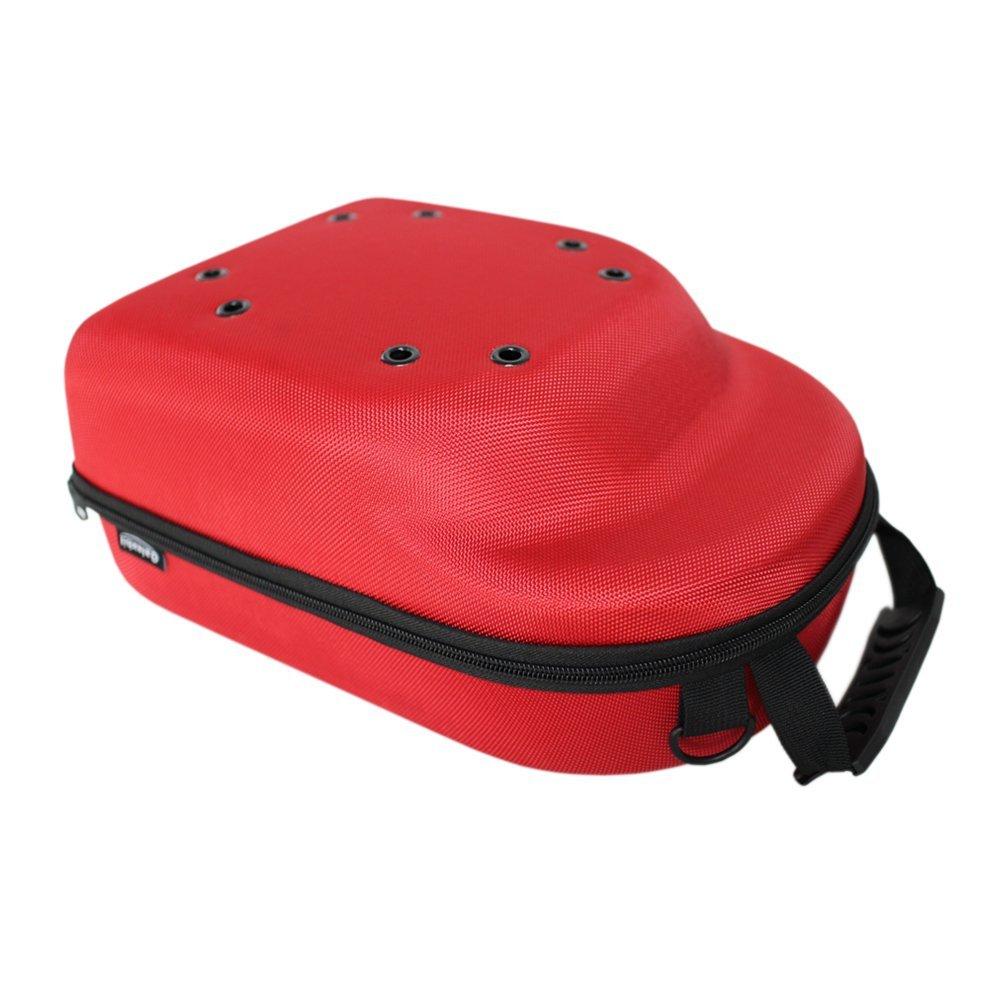 Galexbit Baseball Hat case Cap Carrier Case Holder for 6 Caps Hat bag for Travel (Red)
