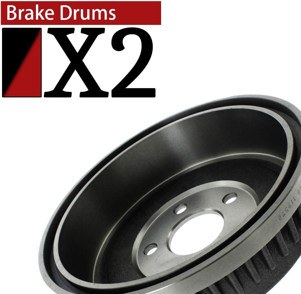 AutoDN Rear Brake Drum 2PCS Compatible With 1990 Honda Accord