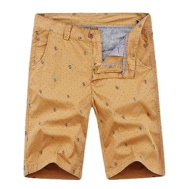 Los Hombres de Bolsillo de Carga Pantalones Casuales de algodón de ...