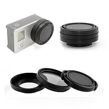 4 37mm CPL Filter with Cap Circular Polarizer Lens Filter for GoPro Hero 3 3