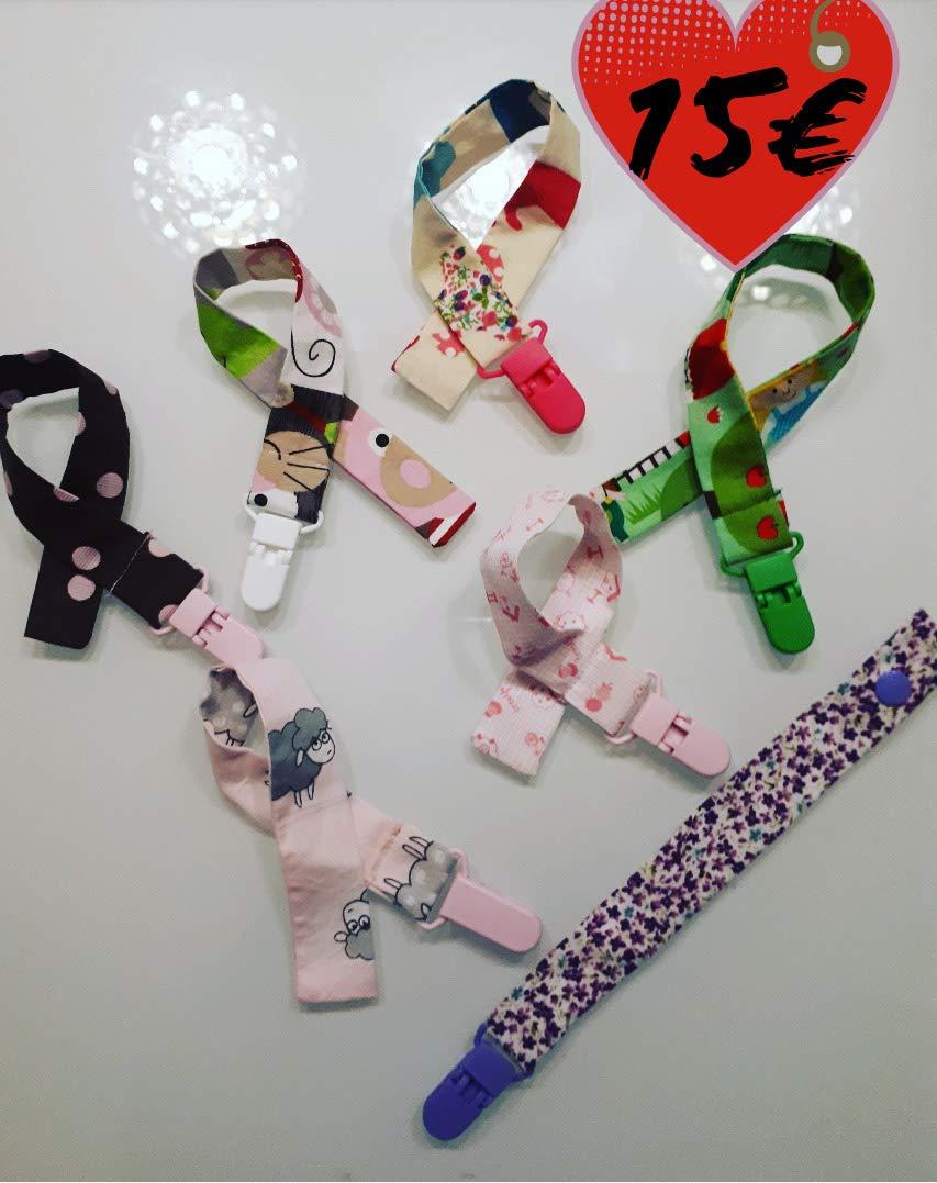 Chupeteros Chupete de tela bebe infantil: Amazon.es: Handmade