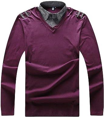 Camisa De Manga Larga De Los La Camiseta del Hombres De Polo Camisa Años 20 De Polo De Los Hombres Camisa De Deporte Camisa Camisa Blusa De Ocio: Amazon.es: Ropa y accesorios