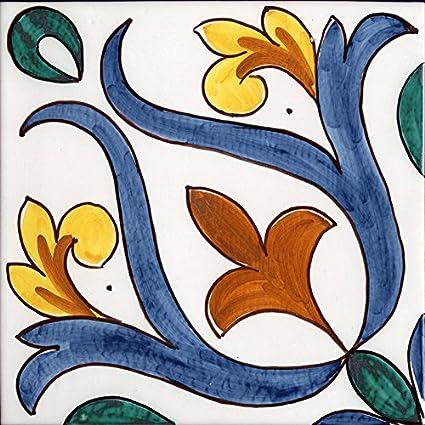 Piastrelle Di Ceramica Decorate.Piastrella Da Rivestimento In Ceramica Di Caltagirone Fatta A Mano