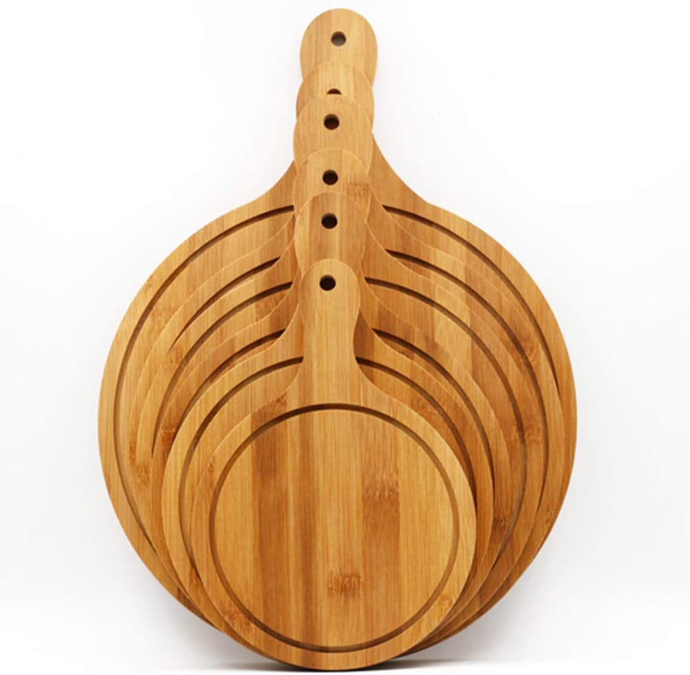 /à pain rond Paddle Board /à pizza avec manche en bois grande Planche /à d/écouper /à servir /él/égamment ronde Plat /à g/âteau Moule pour la cuisine 6in Voir image