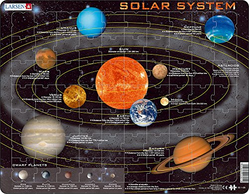 Larsen SS1 Solar System Puzzle For Kids (70 (Kids Learn Solar System)