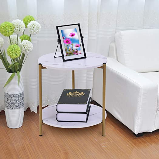 DOYCE Modern Round Side End Accent Table Living Room