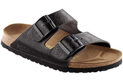 3c5aef9d3dc Image Unavailable. Image not available for. Color  Birkenstock Arizona  Sandal Black Leather ...