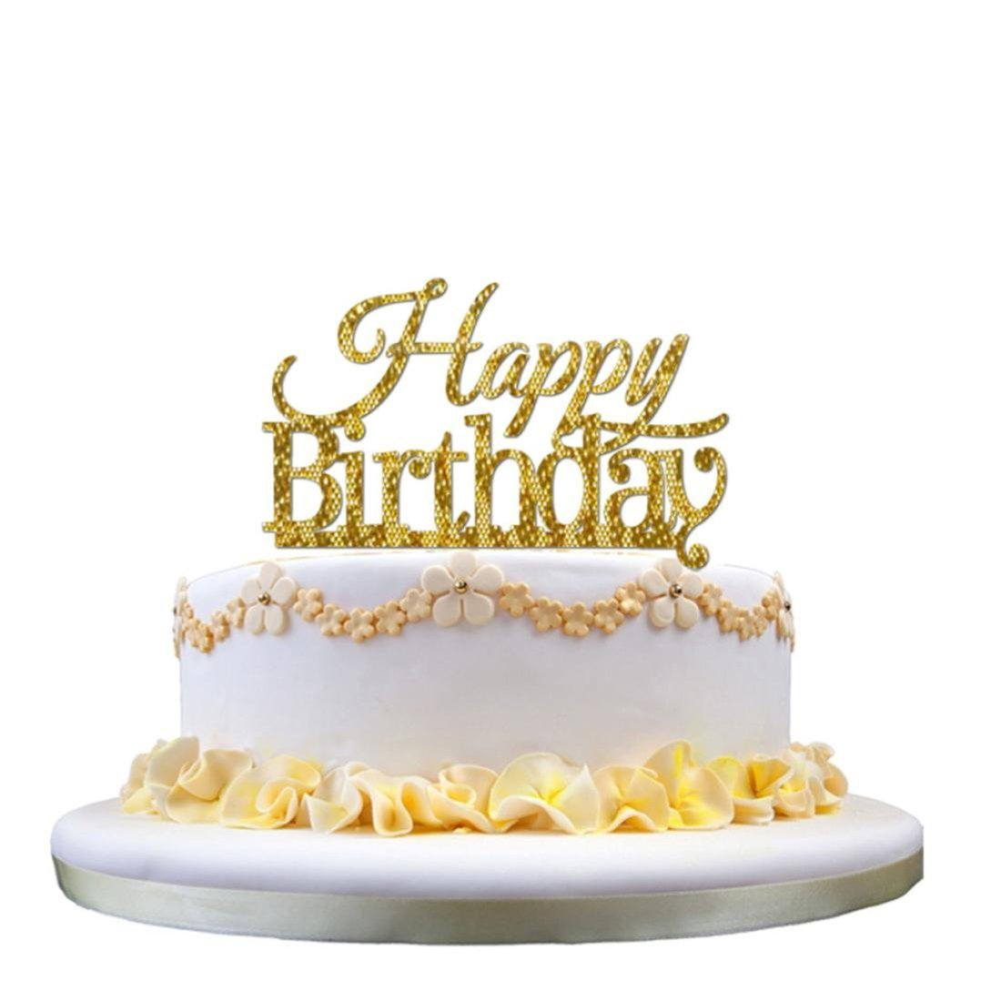 Amazon.com: SODIAL(R) 3D Sticker Sweet Wedding Cake Topper Insert ...
