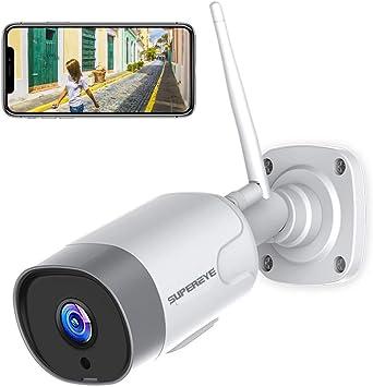 Cámaras de Vigilancia WiFi Exterior/Interior, SUPEREYE 1080P Cámara Seguridad Puede Trabajar con Alexa, Actualización 5dBi Antena Wi-Fi más Fuerte, con IP66, Visión Nocturna, Detección de Movimiento: Amazon.es: Electrónica