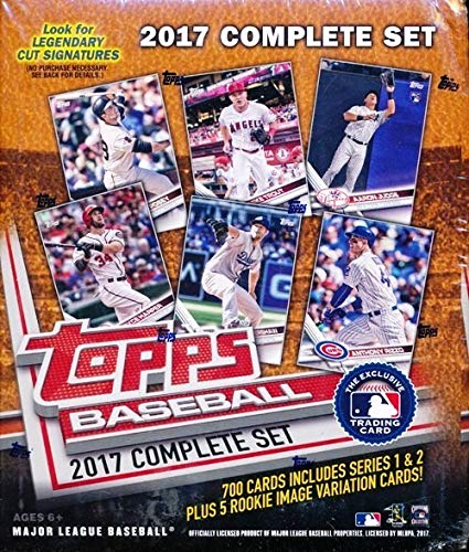 - 2017 Topps Baseball Complete Retail Factory Set (705 Cards) with 2 Aaron Judge Rookies