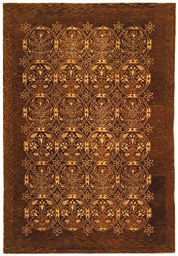 (Safavieh Taj Mahal Collection TJM102A Handmade Traditional Olive Wool Area Rug (6' x)