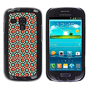 KOKO CASE / Samsung Galaxy S3 MINI NOT REGULAR! I8190 I8190N / puntos spots burbuja naranja papel tapiz colorido / Delgado Negro Plástico caso cubierta Shell Armor Funda Case Cover