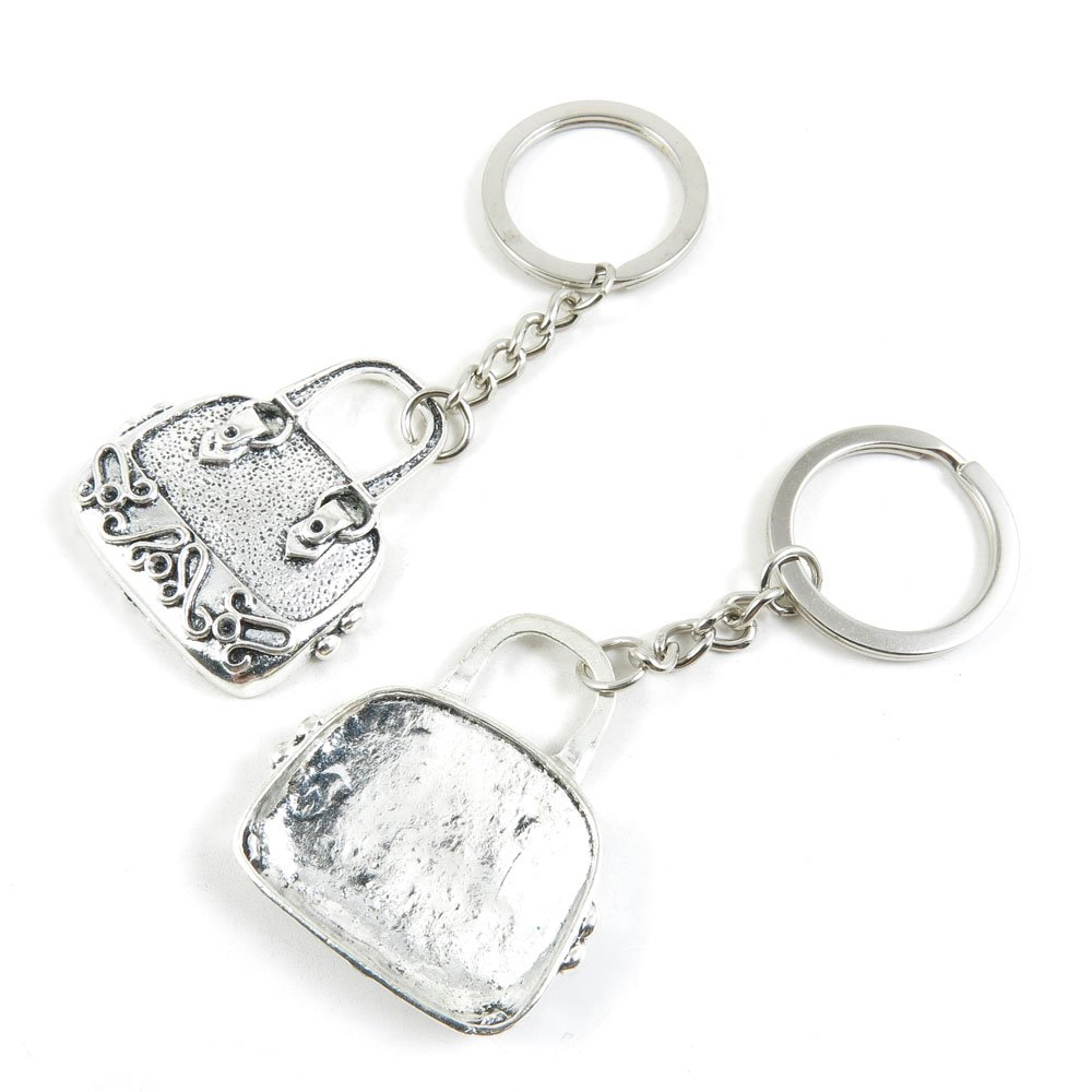 100 Pieces Keychain Keyring Door Car Key Chain Ring Tag Charms Bulk Supply Jewelry Making Clasp Findings R4ZK4S Handbag Purse Shoulder Bag