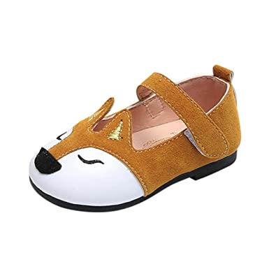 24dfdc4bd Ouneed® Bebe Fille Princess Chaussures Ballerine Cuir Chaussures ...