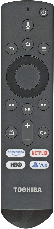 Toshiba CT-RC1US-19 / Insignia NS-RCFNA-19 Fire TV Remote Control [Original/OEM] - RF/Smart/Voice Remote Toshiba 50LF621U19 55LF621U19 50LED2160P 55LED2160P 49LF421U19 TF-50A810U19: Amazon.es: Electrónica