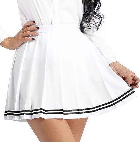 Alvivi Mujer Falda Escocesa Plisada Uniforme Escolar Japón Falda ...