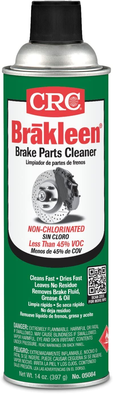 CRC (05084-12PK) Brakleen Non-Chlorinated Brake Parts Cleaner - 14 oz., (Pack of 12)