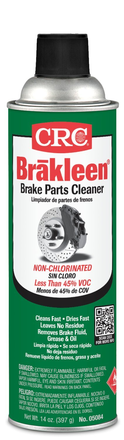 CRC (05084-12PK) Brakleen Non-Chlorinated Brake Parts Cleaner - 14 oz., (Pack of 12) by CRC