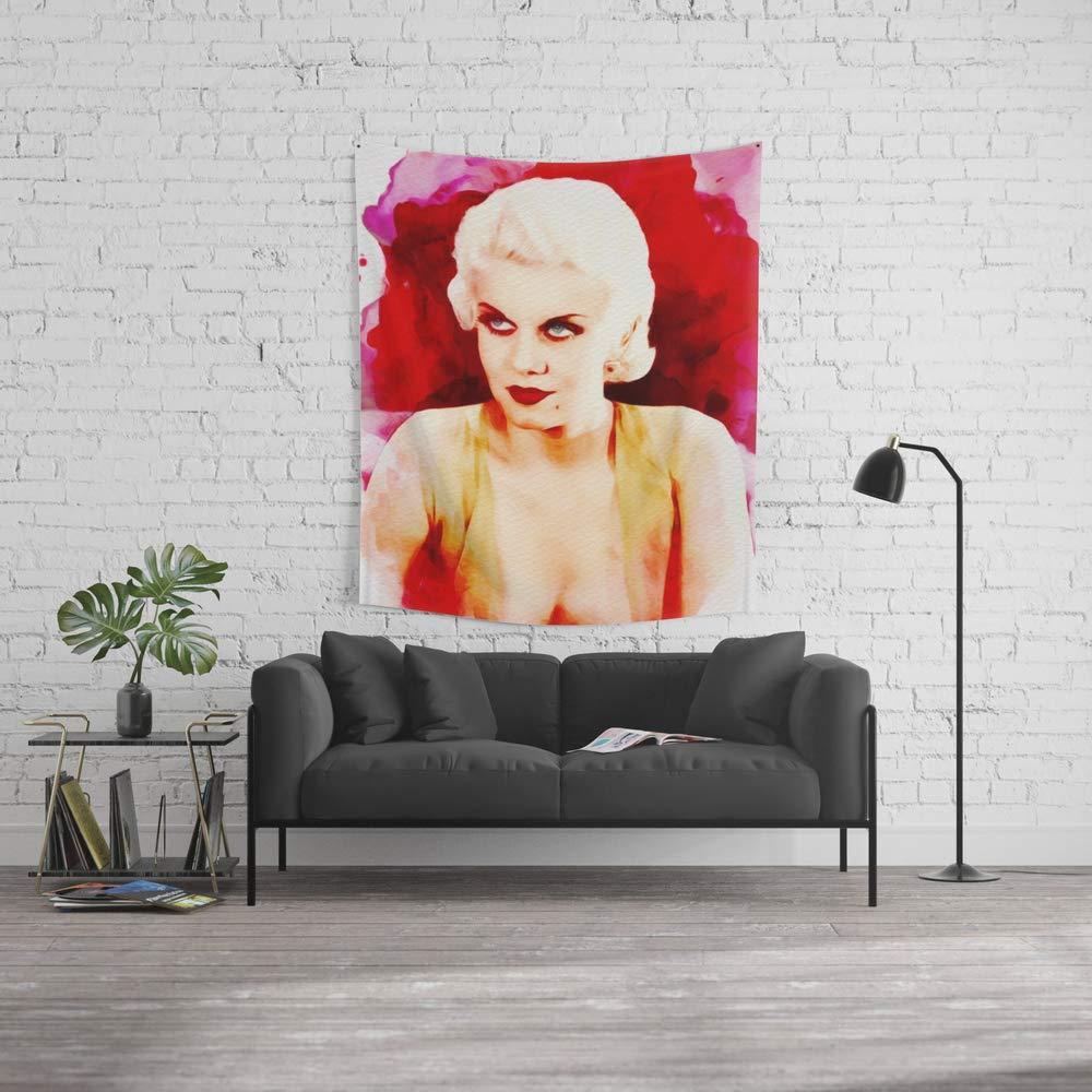 Society6 Wall Tapestry, Size Medium: 68'' x 80'', Jean Harlow, Movie Star by esotericaartagency